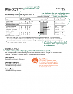 BBHI-2 Clinical Report Page - 2