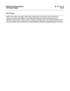 BBHI-2 Clinical Report Page - 6